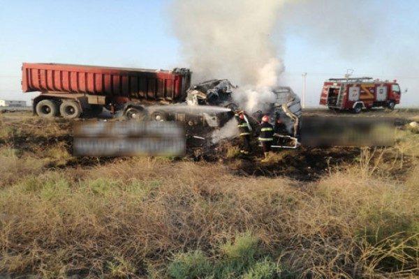 تصادف مرگبار کامیون
