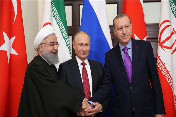 مدل دست دادن روحانی و اردوغان و پوتین در جدیدترین دورهمی شان!
