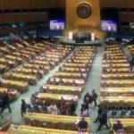 سلفی رئیس جمهور هنگام سخنرانی اش در سازمان ملل!!