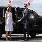 گاف ملانیا ترامپ بانوی اول امریکا در مراسم افتتاحیه