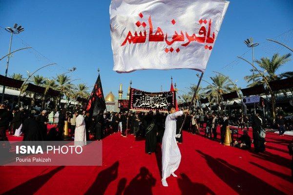 تصاویری از حال و هوای مراسم عزاداری تاسوعای حسینی در کربلا