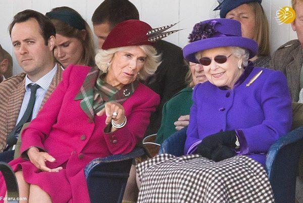 عکس های ملکه انگلیس در تماشای مسابقات دامن پوشان