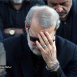 لاریجانی در مراسم عزاداری محرم در جوار مقبره شهدای گمنام!