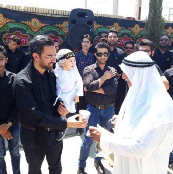 محمد جواد آذری جهرمی و فرزندش
