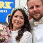 مراسم ازدواج متفاوت زن بندباز در آسمان!!