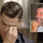 گریه کریس رونالدو با دیدن ویدیویی از پدرش در یک برنامه تلویزیونی!!