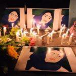 مراسم ختم سحر خدایاری و روشن کردن شمع به یاد او در تهران!!
