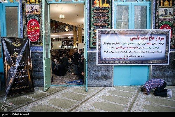 احمدی نژاد و رفقا در مراسم ختم پدر سردار سعید قاسمی!