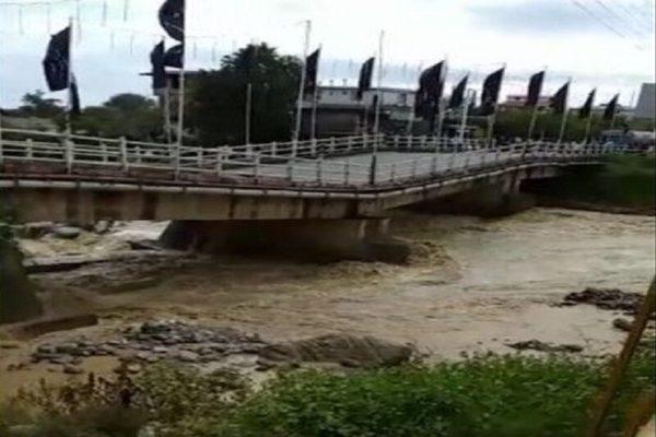 تخریب جدی پل اسالم تالش بر اثر سیلاب