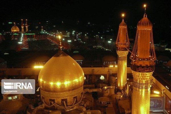 تصویر هوایی از بین الحرمین کربلا در آستانه اربعین