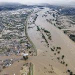 سیل در کشور ژاپن باعت زیر آب رفتن ناگانو شد | دیگر هیچ چیز معلوم نیست !!!