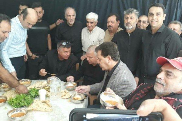 علی پروین در عزاداری اربعین
