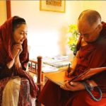 عکس جنجالی کتایون ریاحی در کنار دالایی لاما