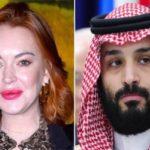 رابطه عاطفی محمد بن سلمان و لیندسی لوهان بازیگر معروف آمریکایی!!