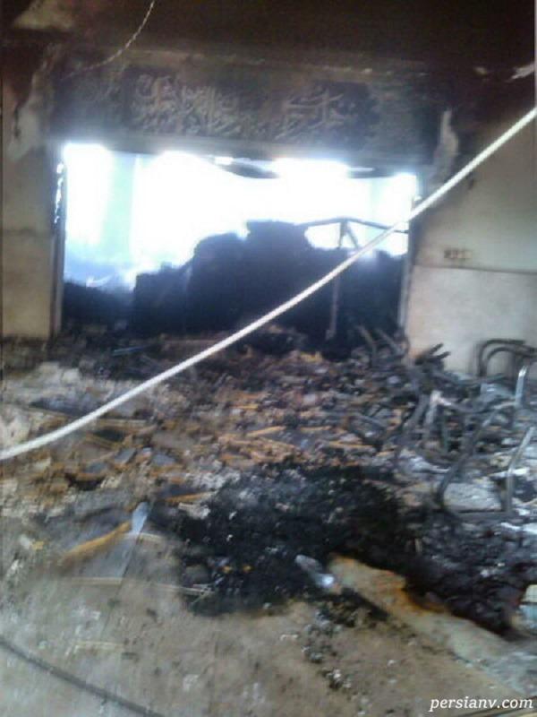 آتش زدن مدرسه علمیه خواهران