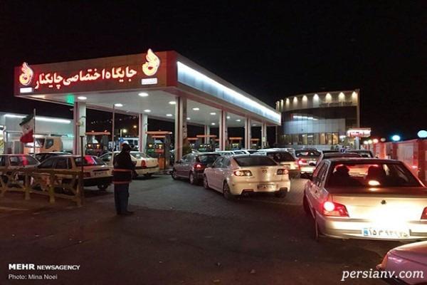 گرانی بنزین و باز هم صف کشی مقابل پمپ بنزین ها!!