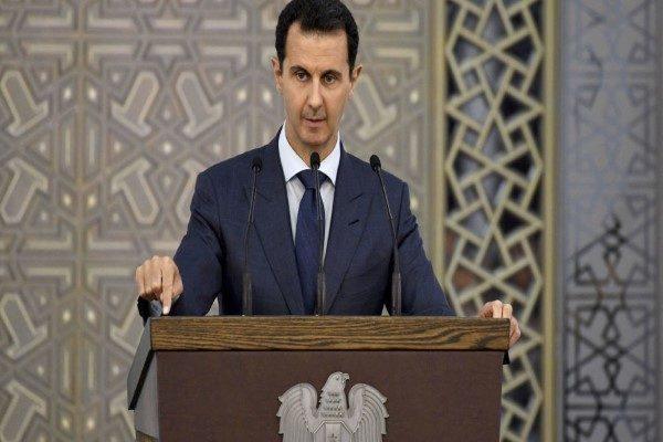 بشار اسد رئیس جمهور سوریه در مراسم جشن میلاد پیامبر (ص)