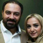 سلفی برزو ارجمند و همسرش در روز برفی تهران