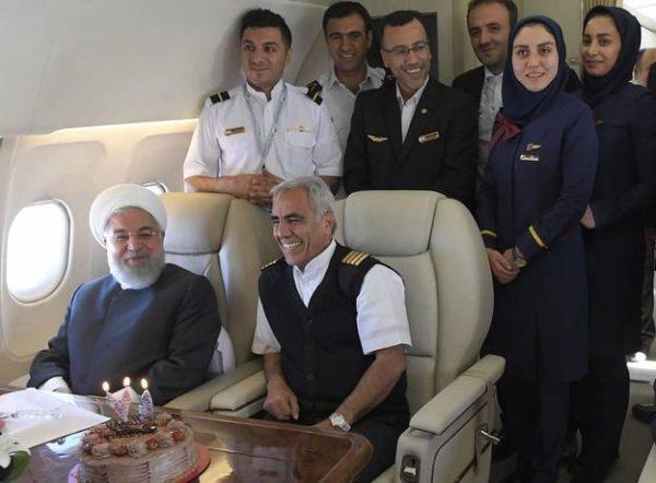 جشن تولد حسن روحانی در ۷۱ سالگی در آسمان!!