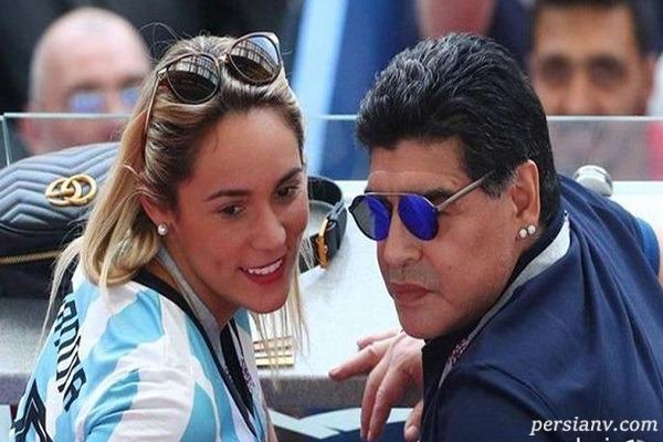 دختر مارادونا به دلیل بی بند و باری از ارث محروم شد!!