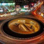 رونمایی از دیوارنگاره جدید میدان ولیعصر به مناسبت ۱۳ آبان