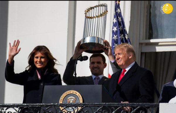 رئیس جمهور آمریکا با همسرش