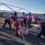 اسکان اضطراری و امدادرسانی به زلزله زدگان آذربایجان شرقی