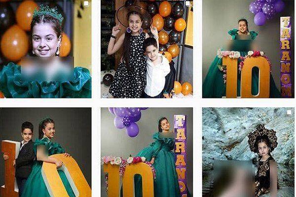 پوشش نامتعارف ترنم کرمانیان بازیگر ۱۰ ساله در فرش قرمز سریال کرگدن!!