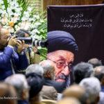فرزندان رهبر انقلاب اسلامی در مراسم ختم نماینده مردم تهران