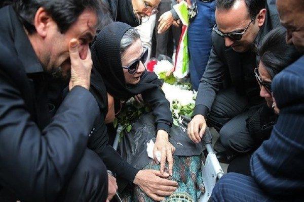 چند نمای تلخ از فلورا سام در مراسم تشییع همسرش مجید اوجی