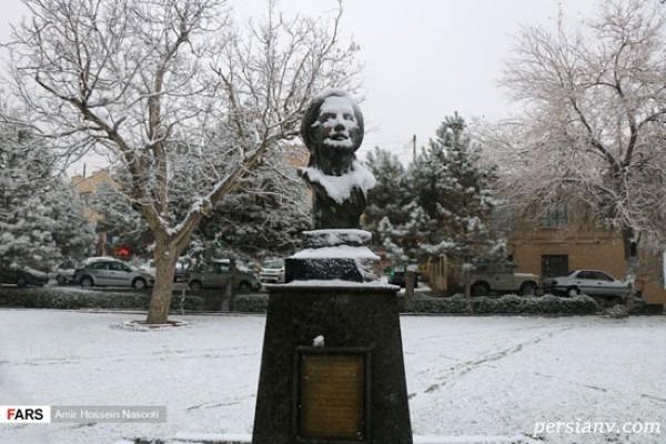 جلوه هایی زیبا از نخستین برف پاییزی در زنجان!!