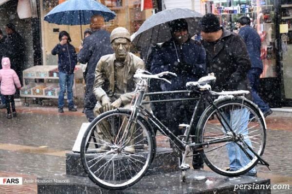 برف پاییزی در زنجان