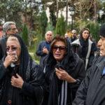 حاشیه های مراسم تشییع پیکر تورج شعبانخانی با حضور هنرمندان!