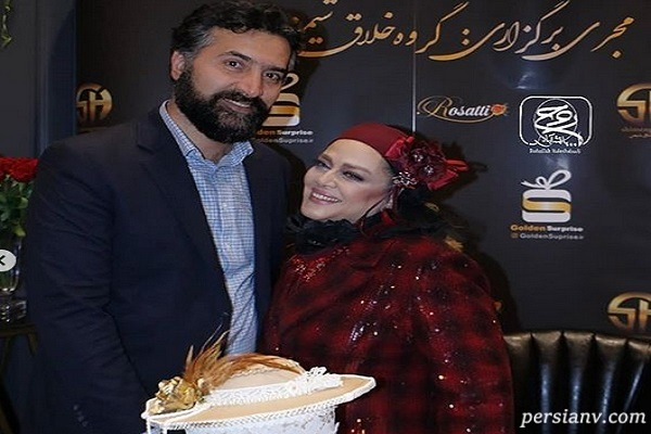 جشن تولد بهاره رهنما در ۴۶ سالگی اش در کنار همسرش امیر خسرو!
