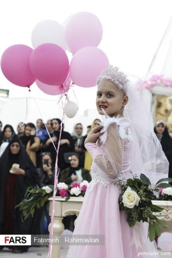 دختر مبتلا به سرطان