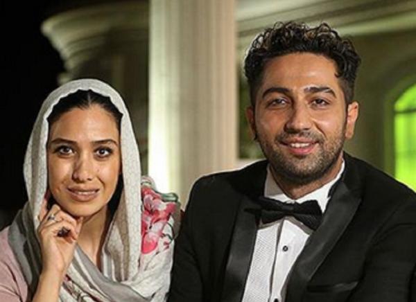 علی سخنگو و سارا نجفی ، زن و شوهر واقعیِ سریال دلدادگان در تولد دختر یکتا ناصر