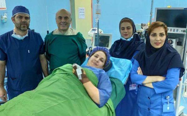 عمل جراحی فاطمه گودرزی