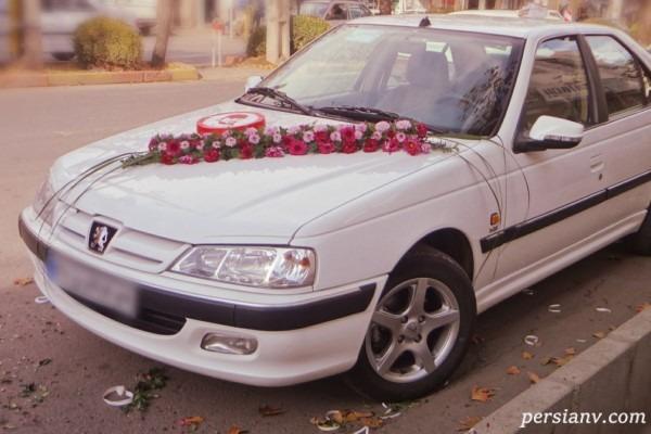 ماشین عروس و داماد