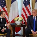 دست دادن متفاوت ماکرون رئیس جمهور فرانسه با همسر ترامپ | اوه لالا!!