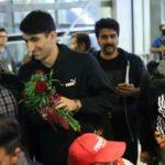 مراسم استقبال از بیرانوند در فرودگاه امام خمینی تهران!!