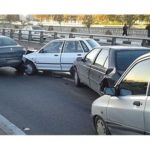 تصاویر عجیب از یک تصادف زنجیره ای در شیراز