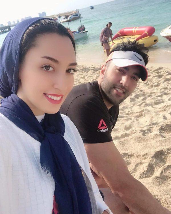 کیمیا علیزاده و همسرش حامد معدنچی