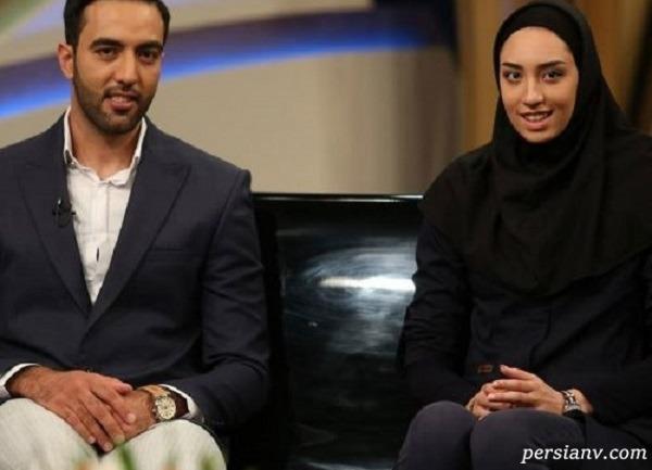 خوش گذارنی کیمیا علیزاده و همسرش حامد معدنچی در کیش