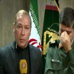 اشکهای مجری شبکه خبر و سخنگوی سپاه روی آنتن زنده