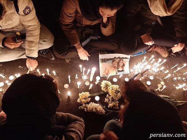 حضور هدیه تهرانی و رضا درمیشیان در میان تجمع اعتراضی مردم