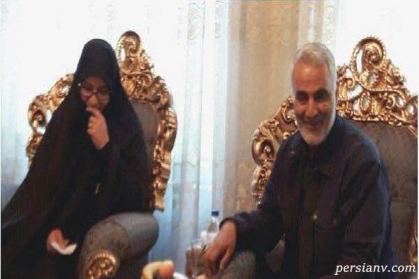 خواسته همسر شهید حججی پس از شهادت سردار سلیمانی