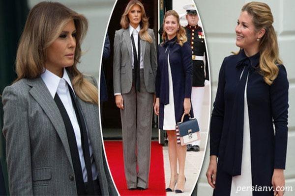 لباس جنجالی ملانیا ترامپ