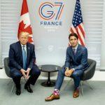 لباس جنجالی ملانیا ترامپ در ملاقات با نخست وزیر کانادا