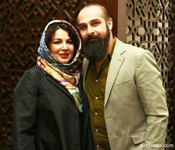 شهره سلطانی در کنار همسرش