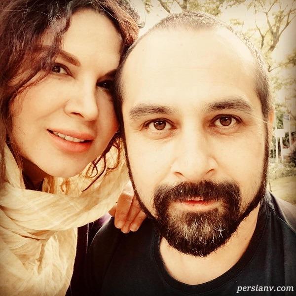شهره سلطانی و همسرش بهروز
